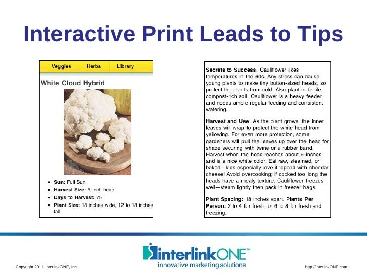 Interactive Print Leads to Tips