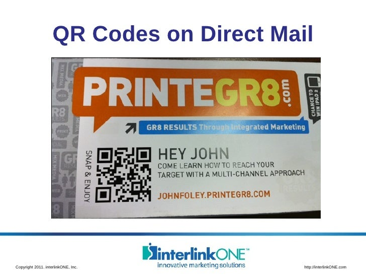 QR Codes on Direct Mail