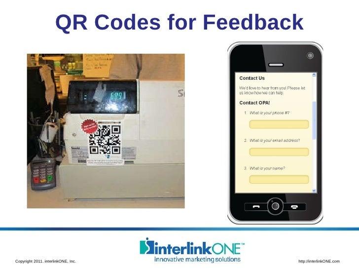 QR Codes for Feedback