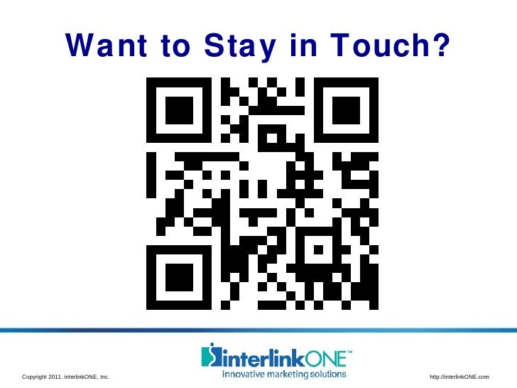 Want to Stay in Touch?