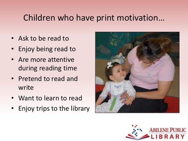 5 children who have print motivation