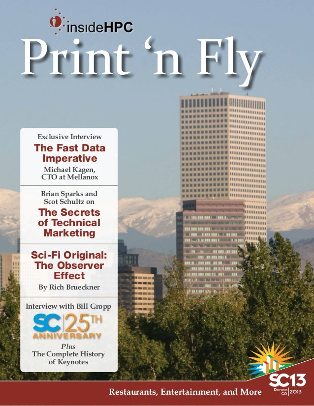 Print 'n Fly Exclusive Interview  The Fast Data Imperative Michael Kagen, CTO at Mellanox Brian Sparks and Scot Schultz on...