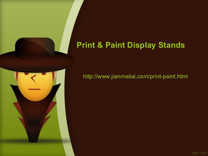 Print & Paint Display Stands http://www.jianmeilai.com/print-paint.html