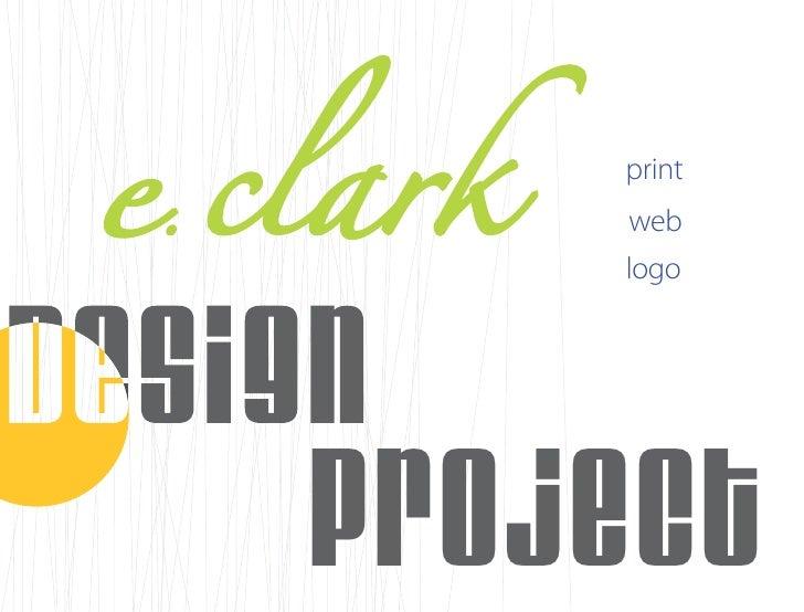 e clark  .           print           web           logo          project