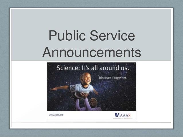 Public ServiceAnnouncements