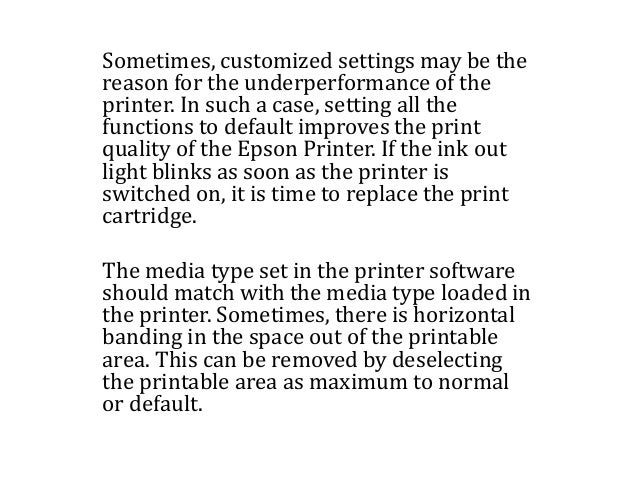 Print quality improvement measures for epson printers