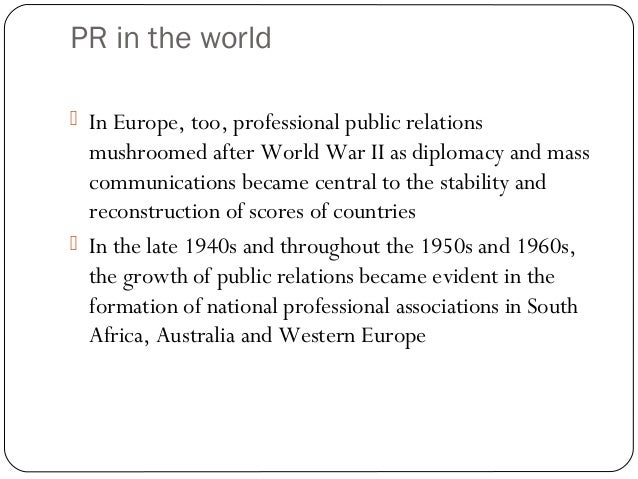 Public Relations Through Time