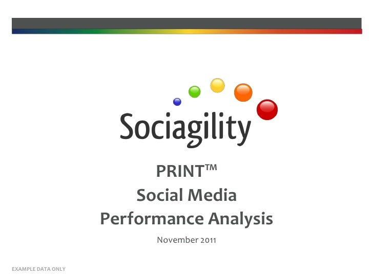 PRINT™                        Social Media                    Performance Analysis                          November 2011E...