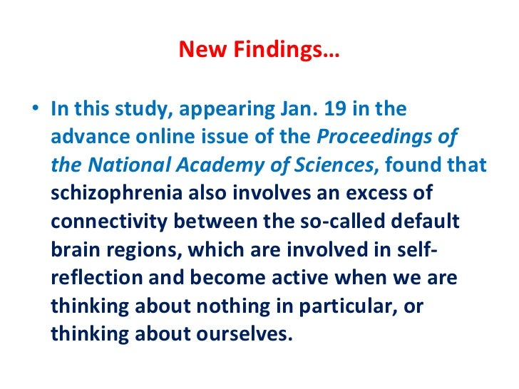 An analysis of the issue of schizophrenia
