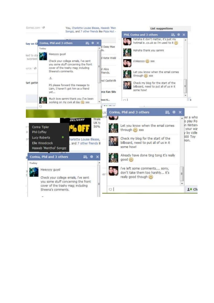 Print Screens off Facebook Chat