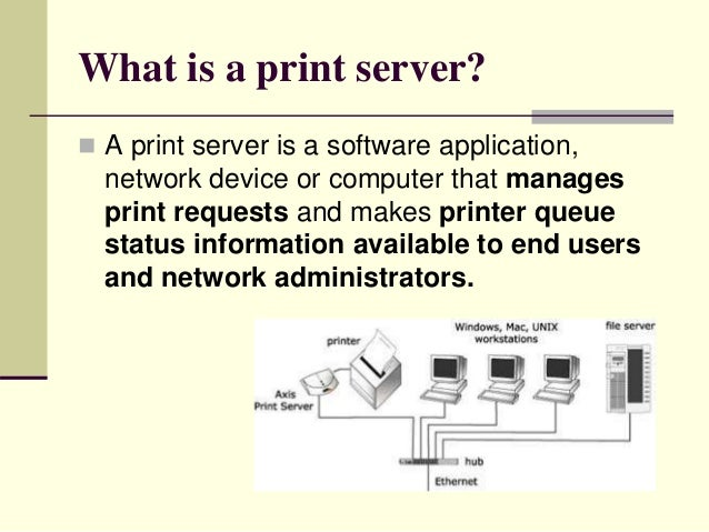 dedicated pc print server