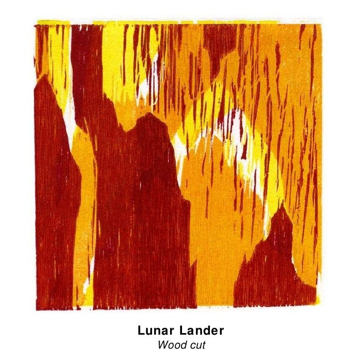 Lunar Lander Wood cut