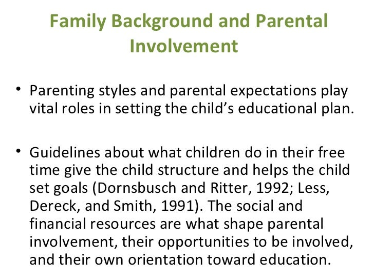 family background in students academic achievement Relationship between family background and academic  performance of secondary schools students: a case of  siakago.