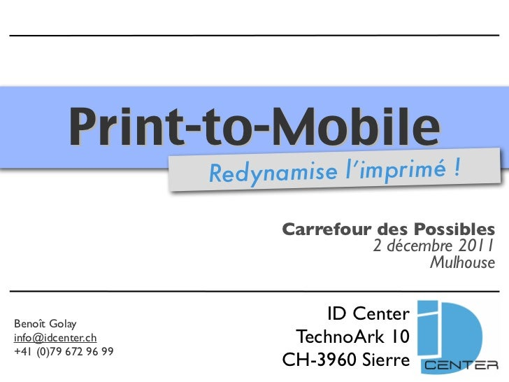 Print-to-Mobile                      Redynamise l'imprimé !                            Carrefour des Possibles            ...