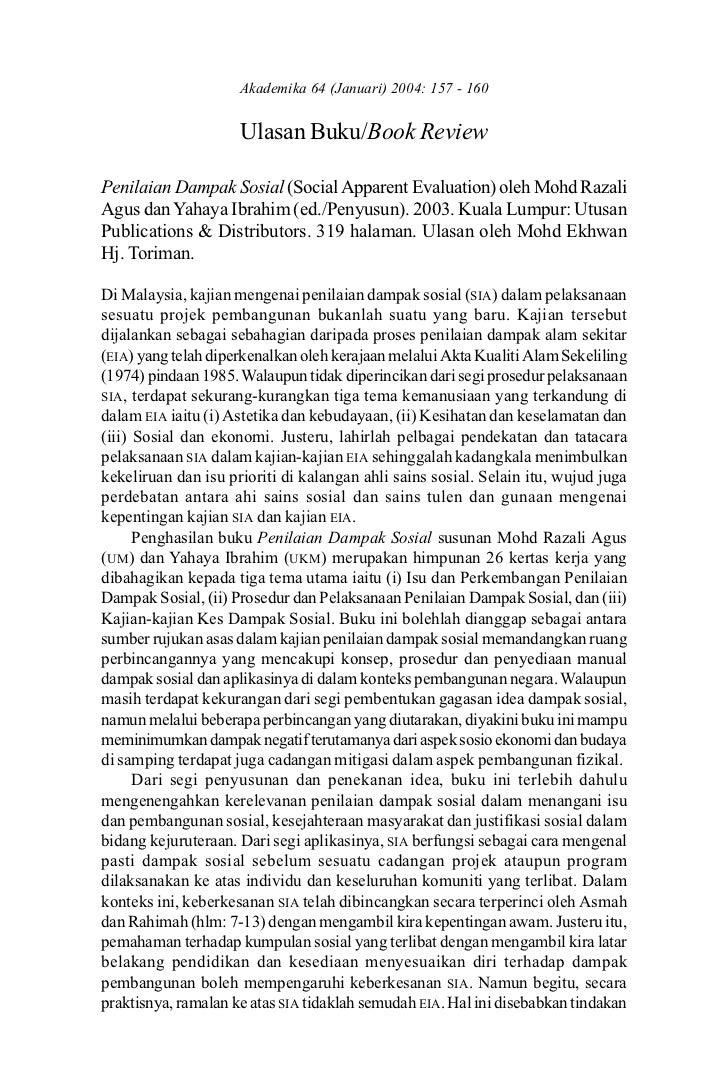 Ulasan Buku/Book Review                    Akademika 64 (Januari) 2004: 157 - 160                   157                   ...