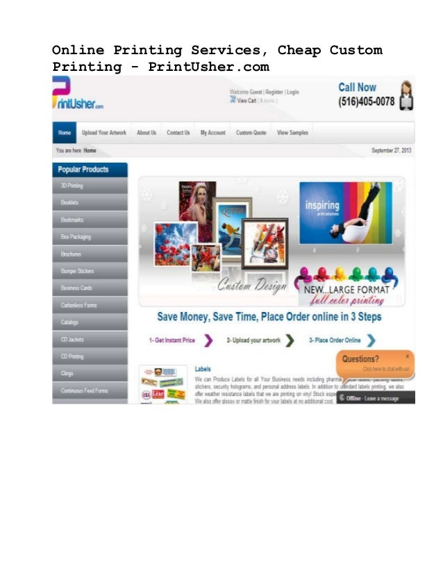 Online Printing Services, Cheap Custom Printing - PrintUsher.com