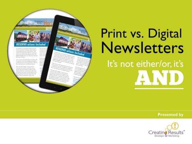 Print Newsletters vs. Email: Think AND for best 50+ marketing results