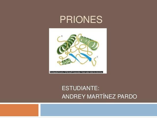 PRIONES ESTUDIANTE: ANDREY MARTÍNEZ PARDO