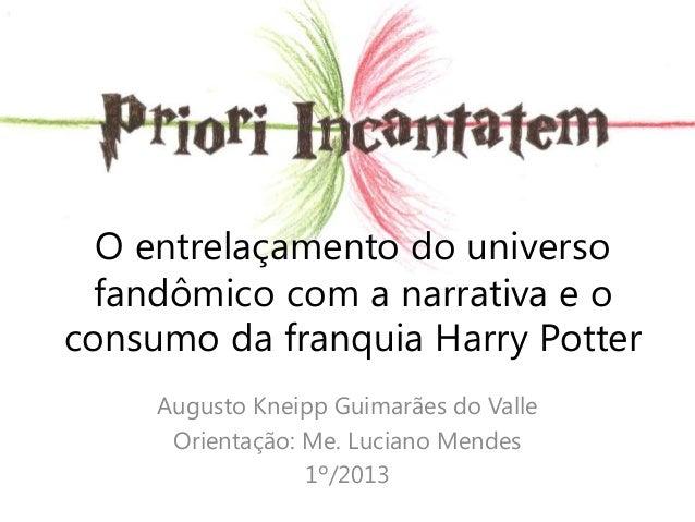 O entrelaçamento do universo fandômico com a narrativa e o consumo da franquia Harry Potter Augusto Kneipp Guimarães do Va...