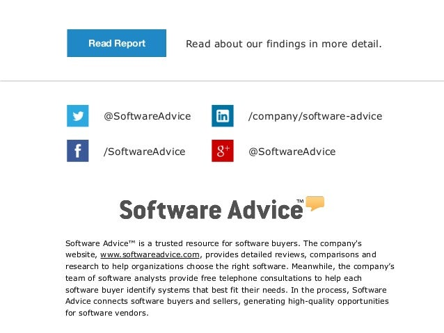 Read Report Read about our findings in more detail.  @SoftwareAdvice /company/software-advice  /SoftwareAdvice @SoftwareAd...