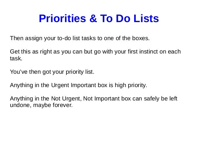 setting priorities and using to do lists in your internet marketing