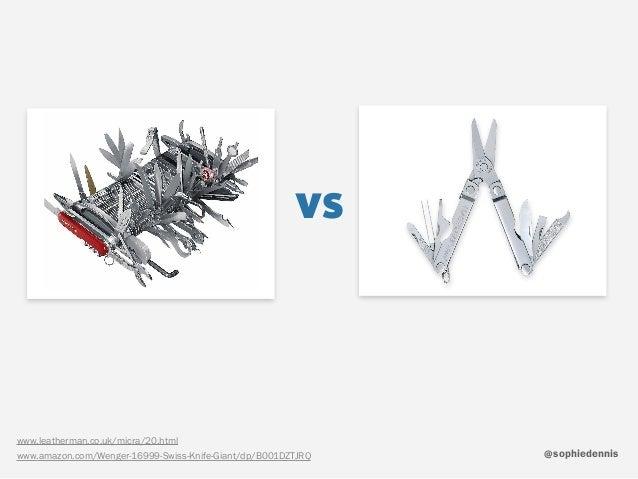 sophiedennis@ vs www.leatherman.co.uk/micra/20.html www.amazon.com/Wenger-16999-Swiss-Knife-Giant/dp/B001DZTJRQ