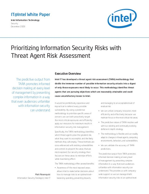 Prioritizing Information Security Risks with Threat Agent Risk Assessment