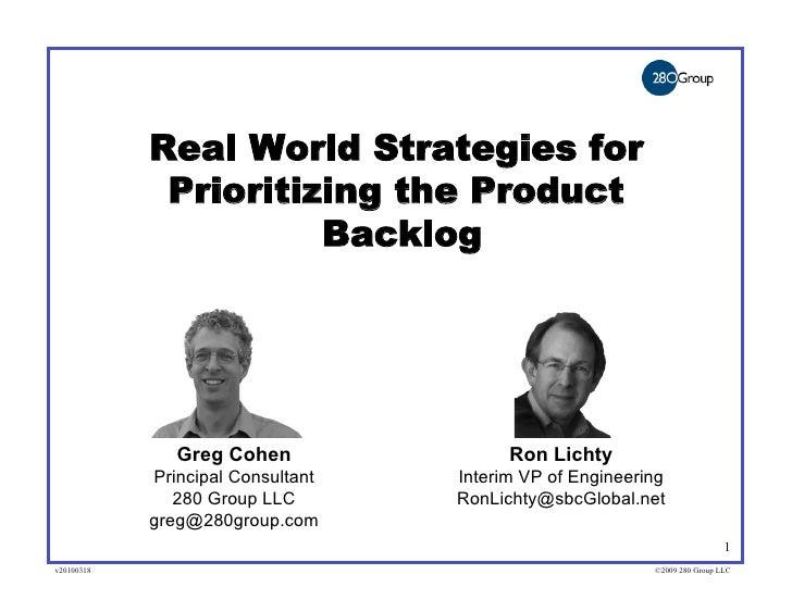 Prioritizing The Product Backlog Aipmm Webinar