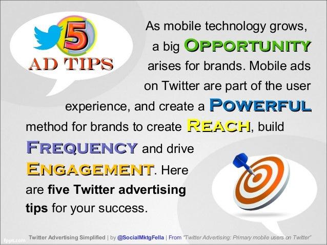 5 Keys for Twitter Advertising to Mobile Users Slide 2