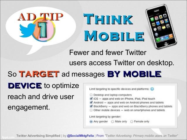 5 Keys for Twitter Advertising to Mobile Users Slide 3