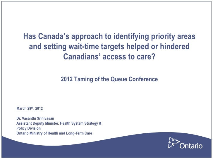 Has Canada's approach to identifying priority areas     and setting wait-time targets helped or hindered               Can...