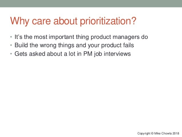 Prioritization for Product Managers Slide 3
