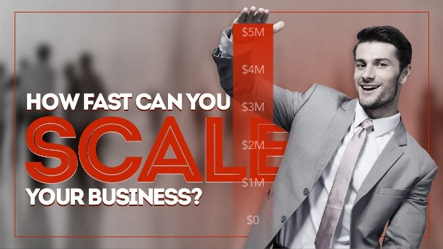 Scale howfastcanyou yourbusiness? $5M $4M $3M $2M $1M $0