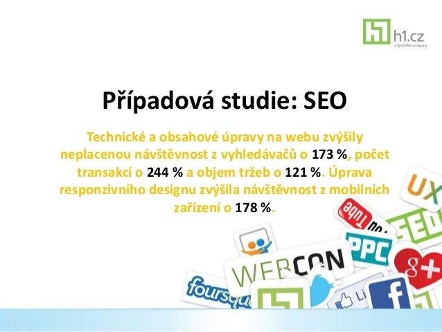 Případová studie: SEO  Technické a obsahové úpravy na webu zvýšily  neplacenou návštěvnost z vyhledávačů o 173 %, počet  t...