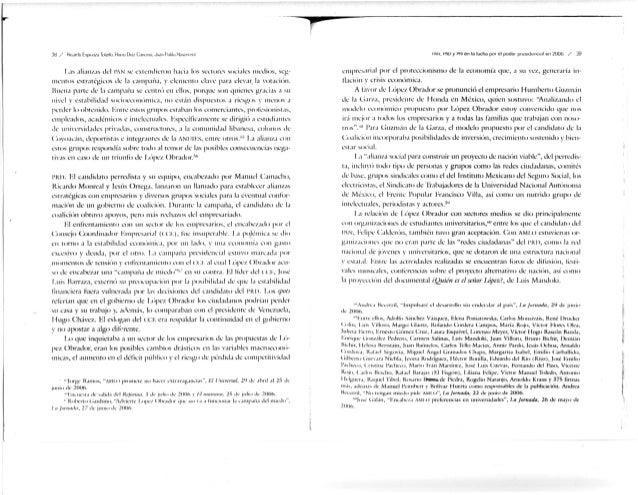 Las alian/as del I'AN se extendieron hacia los sectores sociales medios, seg- mentos estratégicos de la campaña, y clcmcii...