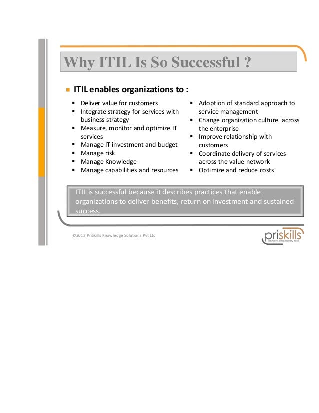 Why Is Itil So Successful