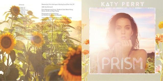 """Katy Perry """"PRISM"""" Digital Booklet"""