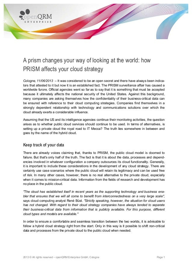 2013 © All rights reserved – openQRM Enterprise GmbH, Cologne Page 1A prism changes your way of looking at the world: howP...
