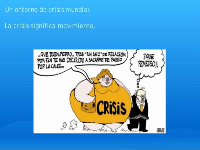 Un entorno de crisis mundial. La crisis significa movimiento.