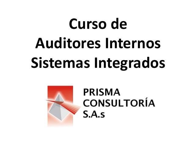 Curso de Auditores Internos Sistemas Integrados