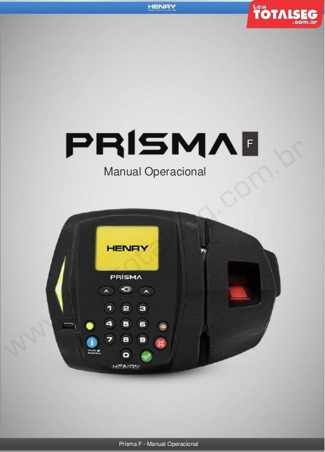 F  Manual Operacional  Prisma F - Manual Operacional