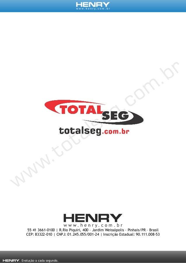 Relógio Eletrônico de Ponto Henry Prisma G - Serviço