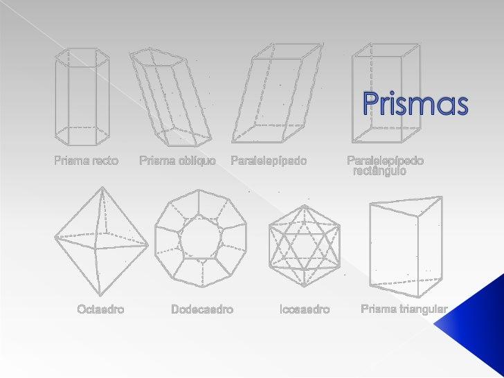  Um prisma é todo sólido geométrico cuja superfície é composta por um número finito de faces, em que cada uma das faces é...