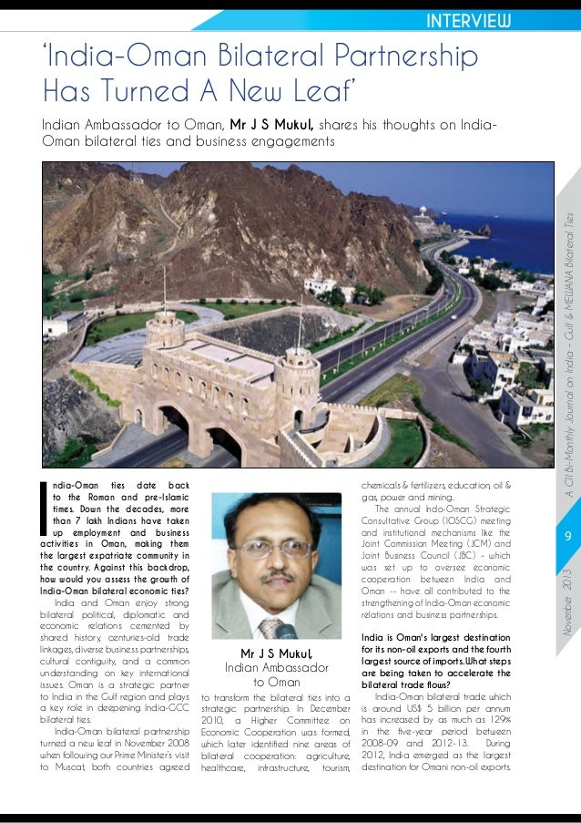 INTERVIEW  'India-Oman Bilateral Partnership Has Turned A New Leaf'  chemicals & fertilizers, education, oil & gas, power ...