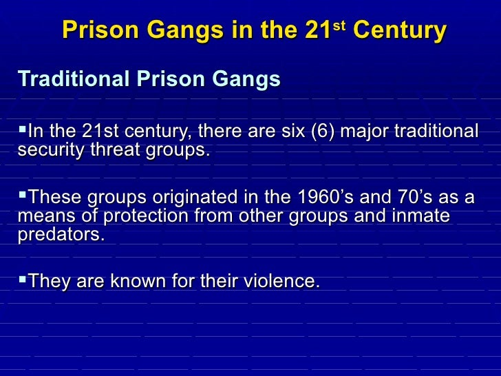 security threat groups gangs in prisons