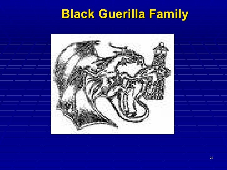 the black guerilla family prison gang A member of the black guerilla family's greenmount avenue regime was sentenced wednesday to 321 months, or 2675 years, in prison for his role in the gang's.