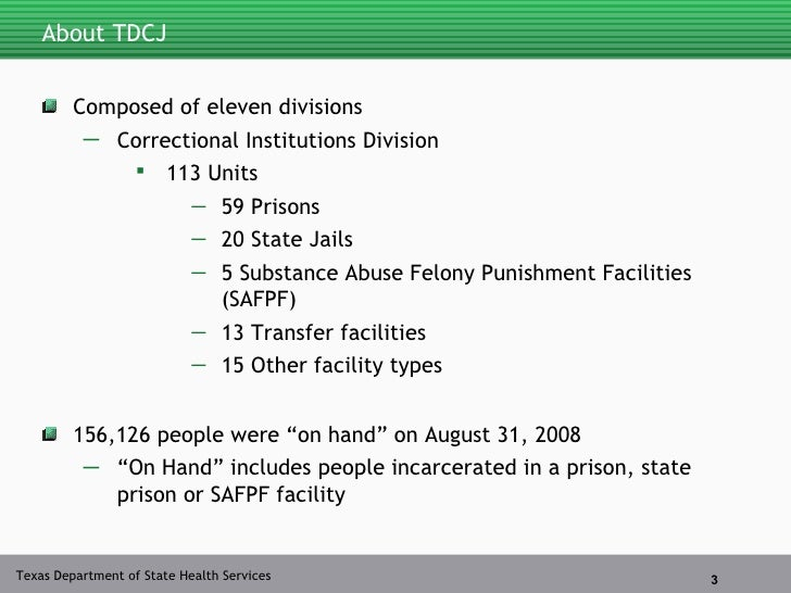 HIV in the Texas Department of Criminal Justice (TDCJ