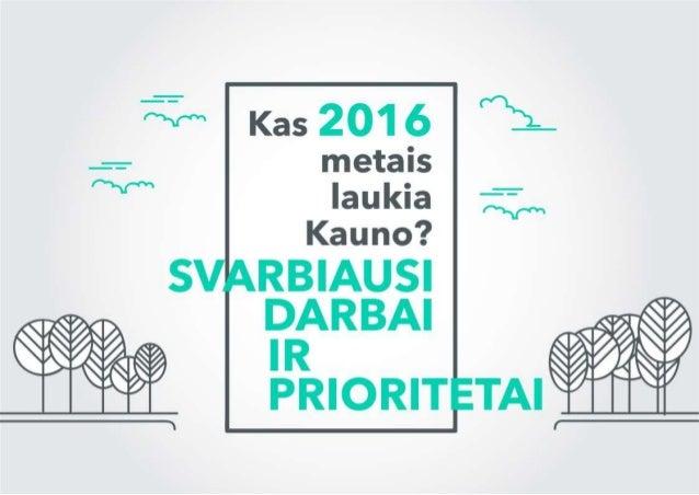 Kas 2016-iais metais laukia Kauno? Svarbiausi darbai ir prioritetai