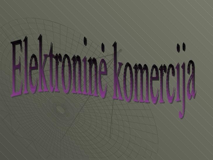 Elektroninė komercija