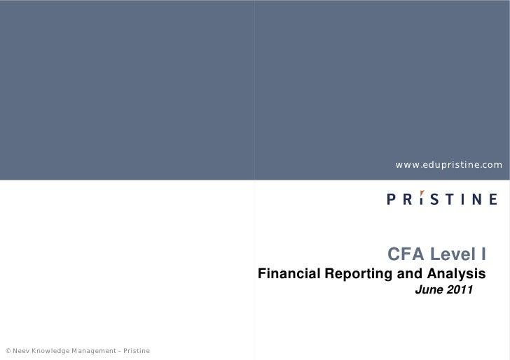 www.edupristine.com                                                           CFA Level I                                 ...